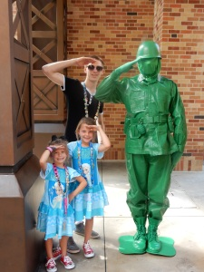 Army men in Pixar Place
